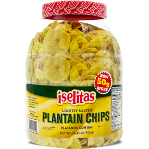 Iselitas Plantain Salted Party Size Jar – 6/26.45 oz