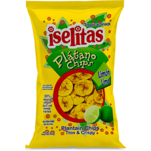 Iselitas Lime Plantain Chips – 20/3 oz